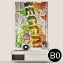 ポステッカー ポスター ウォールステッカー シール式ステッカー 飾り 1030mm×1456mm B0 写真 フォト 壁 インテリア おしゃれ 剥がせる wall sticker poster 000144 レゲエ ラスタカラー ピース