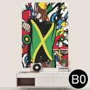 ポステッカー ポスター ウォールステッカー シール式ステッカー 飾り 1030mm×1456mm B0 写真 フォト 壁 インテリア おしゃれ 剥がせる wall sticker poster 000270 ジャマイカ レゲエ HIPHOP