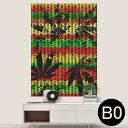 ポステッカー ポスター ウォールステッカー シール式ステッカー 飾り 1030mm×1456mm B0 写真 フォト 壁 インテリア おしゃれ 剥がせる wall sticker poster 011750 レゲエ カラフル 植物