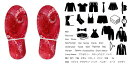 デザイン靴置きステッカー 大人用靴置き マーク くつ 収納 シール ステッカー 整理整頓 ウォールステッカー ラベルシール ミニマリスト 服 玄関 60×30cm 001063 ハート 小花