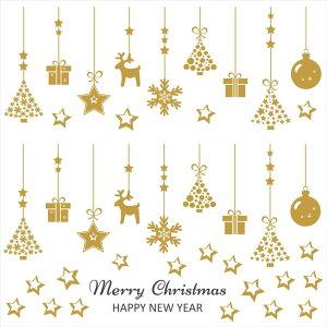 ウォールステッカー クリスマス Christmas 飾り 90×90cm Lsize シール式 装飾 オーナメント ツリー リース 2019 xmas Xmas 壁紙 はがせる 剥がせる カッティングシート wall sticker 雑貨 ガラス 窓 DIY サンタ プチリフォーム パーティー イベント 賃貸 サンタ