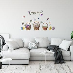 イースター☆ シール式ウォールステッカー ウォールステッカー 飾り 60×60cm easter 壁紙 卵 うさぎ egg