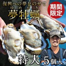 生牡蠣殻付き特大夢牡蠣5個生食用生ガキ大粒生牡蠣特大