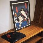 復元役者絵 お富与三郎歌舞伎 KABUKI 和 柄 伝統 文化 役者絵 復元 アート 絵