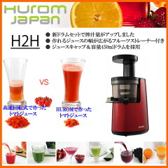 【送料無料】【ラッピング無料】HUROM H2H-RBA11 低速ジューサー/ジュースキャップ&容量450ml...