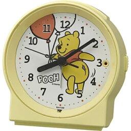 リズム時計工業【ディズニー】めざましとけいR671 くまのプーさん 目覚まし時計 8RE671MC33★【キャラクター時計】