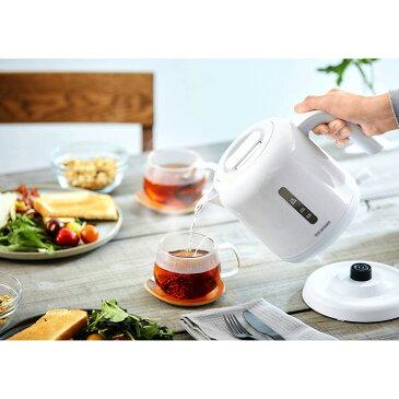 ケトル ベーシックタイプ ホワイト IKEB-800-W ケトル 電気ケトル 電気ポット お湯 湯沸し 湯沸かし ゆわかし 電気ケトル 湯沸し やかん 沸騰 紅茶 ティー コーヒー珈琲 沸かす 熱湯 アイリスオーヤマ