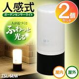 【2個セット】電池式ガーデンセンサーライト ZSL-SEW アイリスオーヤマ