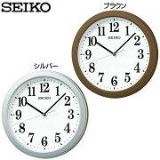 セイコー 掛け時計 ブラウン アナログ オフィス