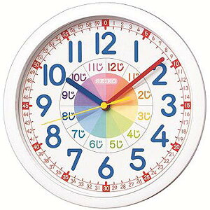 セイコークロック 掛け時計 アナログ 子供部屋
