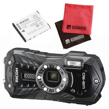 【予備バッテリーセット】 リコー RICOH WG-50 ブラック 防水・防塵・耐衝撃・防寒 デジタルカメラ 【快適家電デジタルライフ】