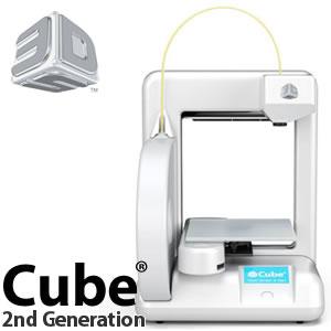 【カード決済/銀行振込のみ】 3D Systems 3Dプリンタ Cube Printer 2nd Generation ホワイト 【382000】【メール便不可】