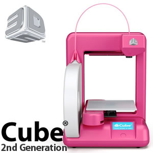【カード決済/銀行振込のみ】 3D Systems 3Dプリンタ Cube Printer 2nd Generation マゼンタ 【383000】【メール便不可】
