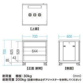 【メーカー直送】【】サンワサプライCP-SVCMULT1マルチ収納ラックH700【ラッピング】