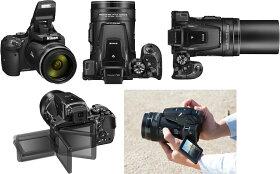 【★SD16GB&コンパクトカメラバッグ等セット】【送料無料】Nikon(ニコン)デジタルカメラCOOLPIXP900ブラック【メール便不可】