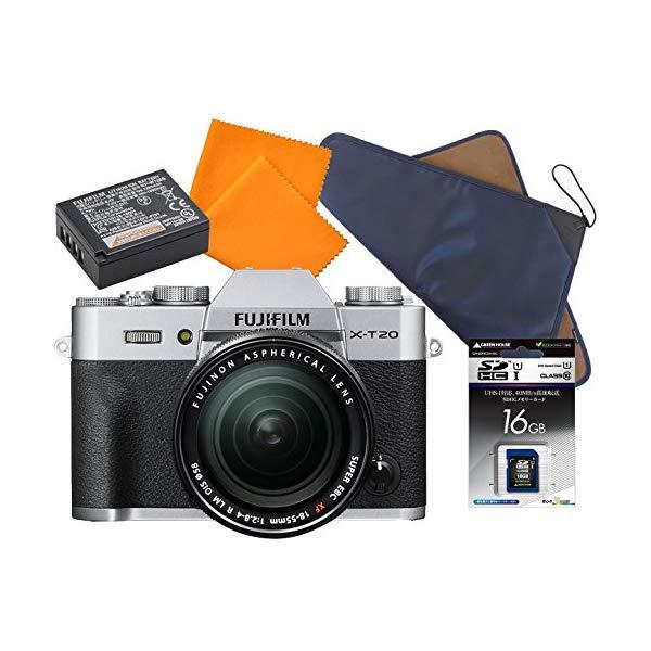 【送料無料】 FUJIFILM 【フジフィルム】 ミラーレス一眼 FUJIFILM X-T20 レンズキット [SDカード16GB+予備バッテリー+シリコンクロス+ラッピングクロスセット]【快適家電デジタルライフ】