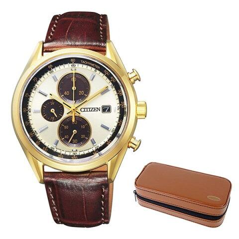 (時計ケースセット)(国内正規品)(シチズン)CITIZEN 腕時計 CA0452-01P シチズンコレクション メンズ クロノグラフ(牛革バンド ソーラー 多針アナログ)(快適家電デジタルライフ)