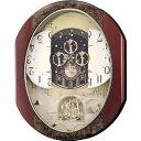 リズム時計 電波からくり時計 からくり・アミューズ パルタージュM473N 4MN473RA23【ラッピング不可】【快適家電デジタルライフ】
