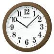 セイコークロック (SEIKO) 【電波掛時計】 コンパクトサイズKX379B(茶)【メール便不可】