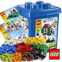 LEGO(レゴブロック) 青いバケツ & 基本ブロック(XL) & 基礎板2組(緑・灰)(対象年齢5歳以上)【送...