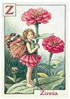 ポストカード★Zinniaフェアリー★[FLOWER FAIRY]フラワーフェアリーメッセージカード
