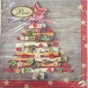 ペーパーナプキン[メール便OK] 白樺の皮とスパイスとボタンのツリー クリスマス[Paw]2枚入りパウ