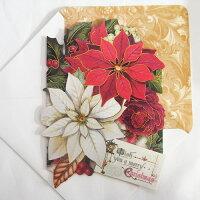 [Punch Studio]クリスマスカード クリスマス ポインセチアパンチスタジオ クリスマス