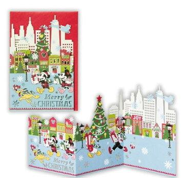 クリスマスカード ディズニー レーザーギャラリー ミッキー [Hallmark]Disney・クリスマス
