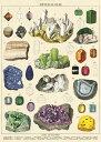 Cavallini&Co 包装紙 1702 ラッピングペーパー 鉱物 ポスター輸入包装紙スクラップブッキング・ポスター・デコパージュ・石