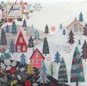 10枚ペーパーナプキン クリスマスビレッジ[Ambiente]紙ナプキン・デコパージュ