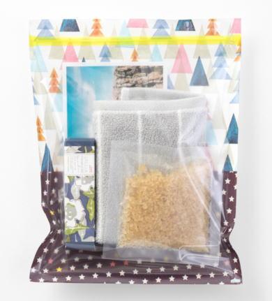 ジッパー水彩森柄片面透明袋ジップロック・ジップバッグ6枚入り[その他]・小分け袋・保存袋・手作りお菓子