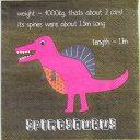 ペーパーナプキン[メール便OK]●カクテルサイズ● ダイナソー 5枚入り [MeriMeri]メリメリペーパーナプキン・紙ナプキン・デコパージュ