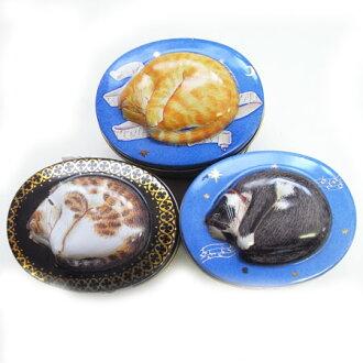 錫盒貓拼圖 1 困時間貓拼圖在錫錫罐拼圖貓罐頭貓糧