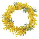 176-434ミモザリース Mアートフラワーリース ascaアスカキャンドルデコレーション・イースター・スプリング・造花