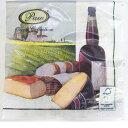 ペーパーナプキン[メール便OK]PROVINCE [Paw]2枚入りワイン・チーズ・ペーパーナフキン・紙ナプキン・デコパージュ