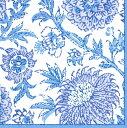 10枚ペーパーナプキン 更紗ブルー Indiennes Blue紺白Caspari カスパ