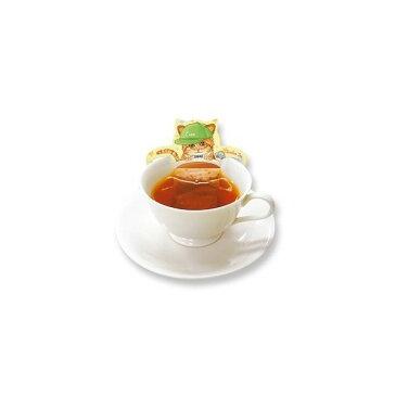 ねこ型ティーバッグ ベビーキャットカフェ(ルイボスティー)ティーバック3袋 [Cat Cafe] カフェインレス紅茶・ネコ・猫 日本緑茶センター