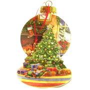 ポップアップ グリーティングカード レッドオーナメント クリスマスカード クリスマスポップアップカード