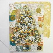 クリスマスカード ホワイトポインセチアツリー クリスマス コレクション スタジオ メッセージ