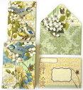 無地カード★定形サイズカードセット ブルーベルバード 10枚セット【Punch Studio】パンチスタジオグリーティングカード・メッセージカード小鳥・鳥・トリ・バード・インコ