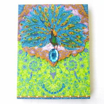 [Punch Studio]ノートパッド ミニメモ 青い孔雀パンチスタジオ クジャク くじゃく 鳥 とり トリ バード