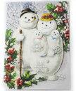 [Punch Studio]クリスマスカード★スノーマン 家族★封筒付き 2012クリスマスコレクション パンチスタジオ立体メッセージカード