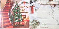 ポップアップ クリスマスカード ホリデー ドア[Up With Paper]スノーマン・立体クリスマスカードポップアップカード