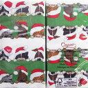 ペーパーナプキン[メール便OK][ハンキー]サンタ ドッグ&キャッツCaspariカスパリペーパーナフキン・紙ナプキン・クリスマス