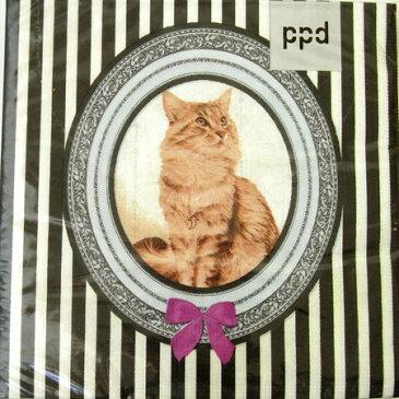 1枚 ペーパーナプキン 猫デラックスppdデコパージュ・ラッピング猫・子猫・ネコ・キャット・Cat