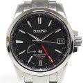 SEIKOセイコーメンズ腕時計グランドセイコーGMTスプリングドライブSBGE013ブラック(黒)文字盤【中古】