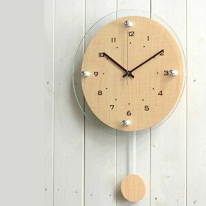 電波時計 Antilles アンティール W-473 掛時計 掛け時計 振り子時計 振り子 木目 壁掛け時計 時計 クロック おしゃれ 人気 デザイン インテリア モダン ナチュラル ノア精密 楽天 224389