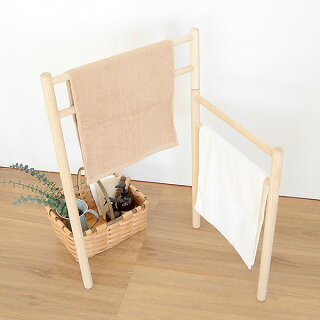 バスタオルハンガーオープンタオルハンガーNTLaluzラルース木製ハンガースタンドバスマット干しシンプルおしゃれかわいい北欧
