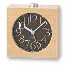 レムノス Lemnos 置き時計 目覚まし時計 エーワイアラームクロック AY alarm clock スイープムーブメント 音がしない 連続秒針 おしゃれ 北欧 木製 アラーム 目覚まし 子供 ライト 光 置時計 卓上 時計
