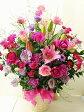 【開店祝い 花】【スタンド花】開店祝い・発表会専用 アレンジメント(ピンク・パープル系Mサイズ)【送料無料】【開業祝い】【オープン祝い】【祝い花】【発表会】【お祝い】誕生日祝い/移転祝い/開設祝 05P03Dec16